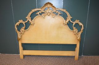 Vintage Ornate Italian Renaissance Style Full Size Headboard photo