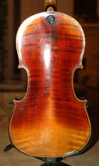 Antique Handmade German 4/4 Fullsize Violin - Label Roma Stradiuarius - 1900 ' S photo