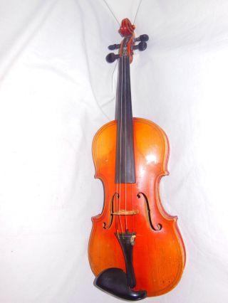 Antique Early 20c Violin Giovan Paulo Maggini Brescia Copy & Case photo