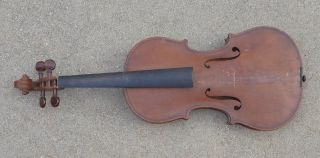 Antique Unmarked Full Size 4/4 Fine Violin photo