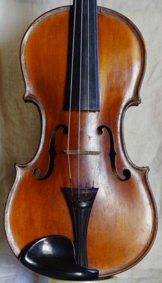 Interesting Brescian Style Violin Labelled Antonius Stradivarius photo