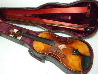 1964 Karl Hofner Germany 4/4 Scale Full Size 34915 Vintage Violin W/ Case & Bow photo