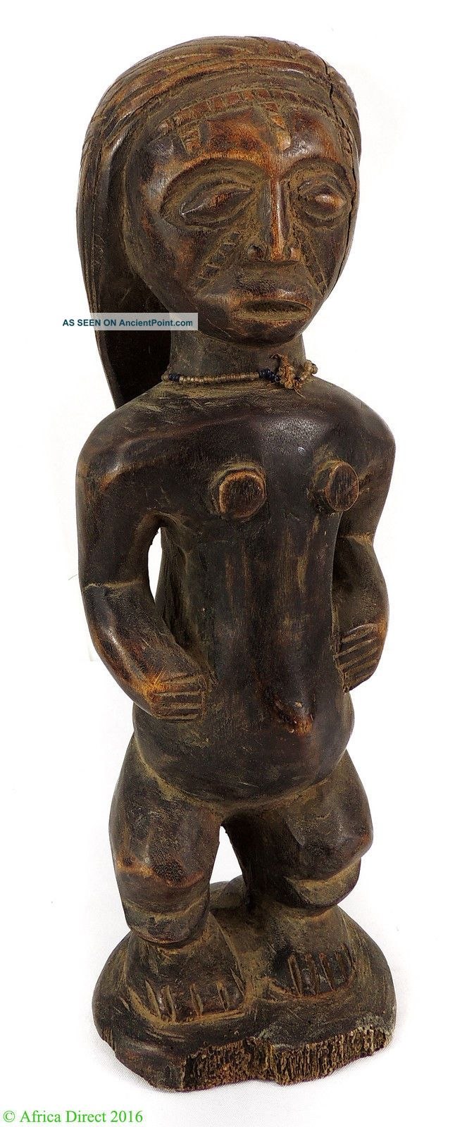 Tabwa Female Statue Congo African Art 15 Inch Sculptures & Statues photo