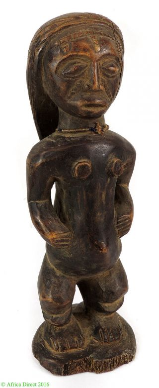Tabwa Female Statue Congo African Art 15 Inch photo