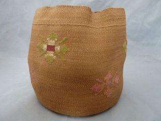 Native American Weave Basket Bowl.  Design.  Approx 5.  25