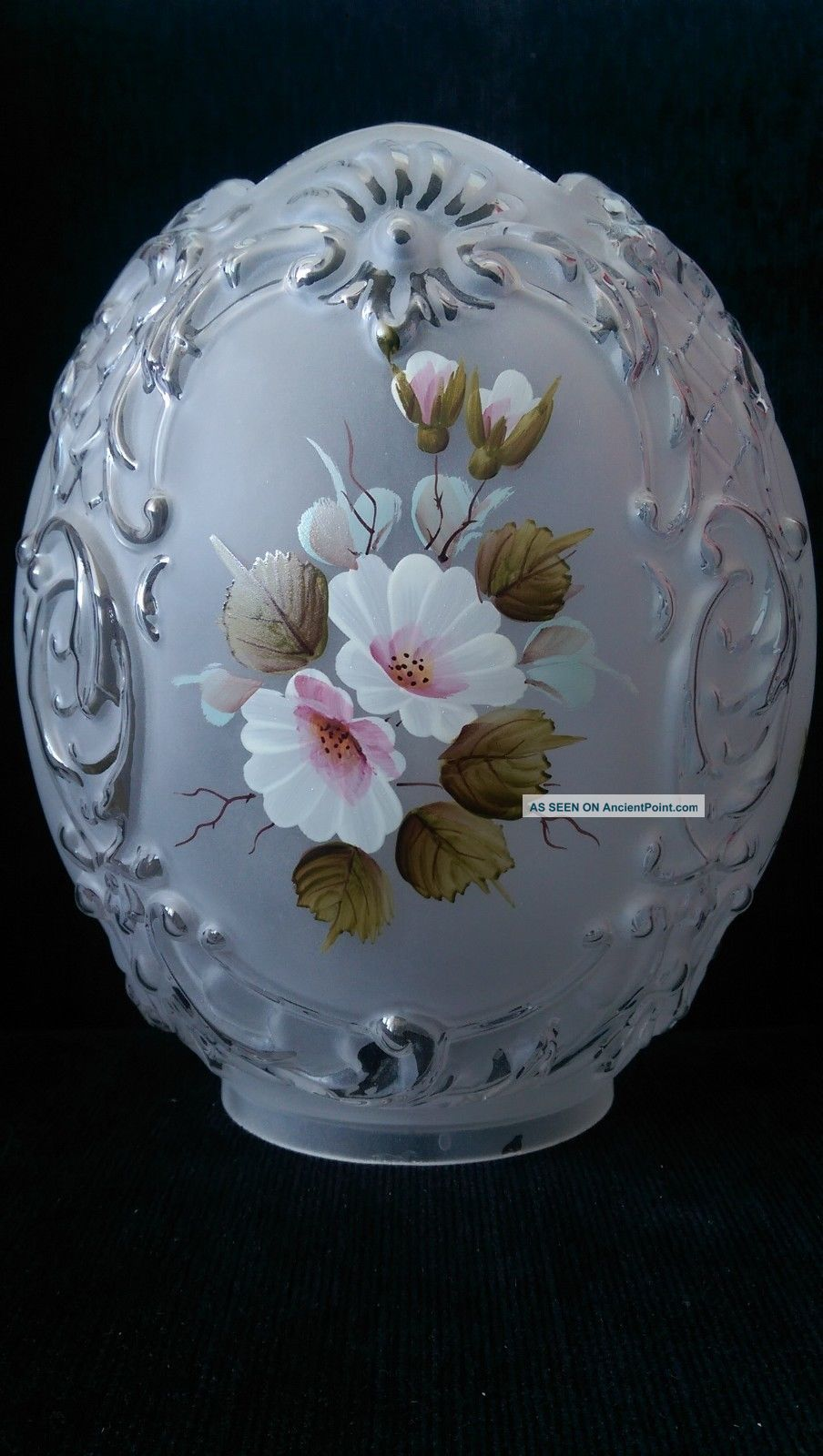Shade Oil Lamp Tulip Glass Reproductions photo