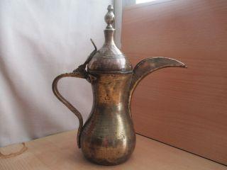 50 Old Antique Islamic / Ottoman / Saudi Pot Dallah Bedouin Copper photo