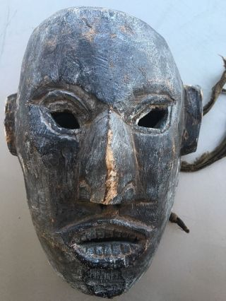 Antique Wood Sculpture African Art Tribal Mask photo