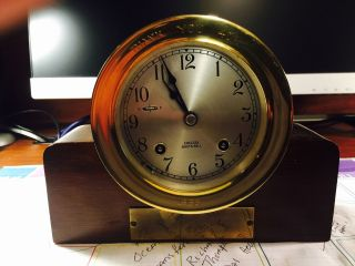Chelsea Ships Brass Bell Clock 1965 - 1969 photo
