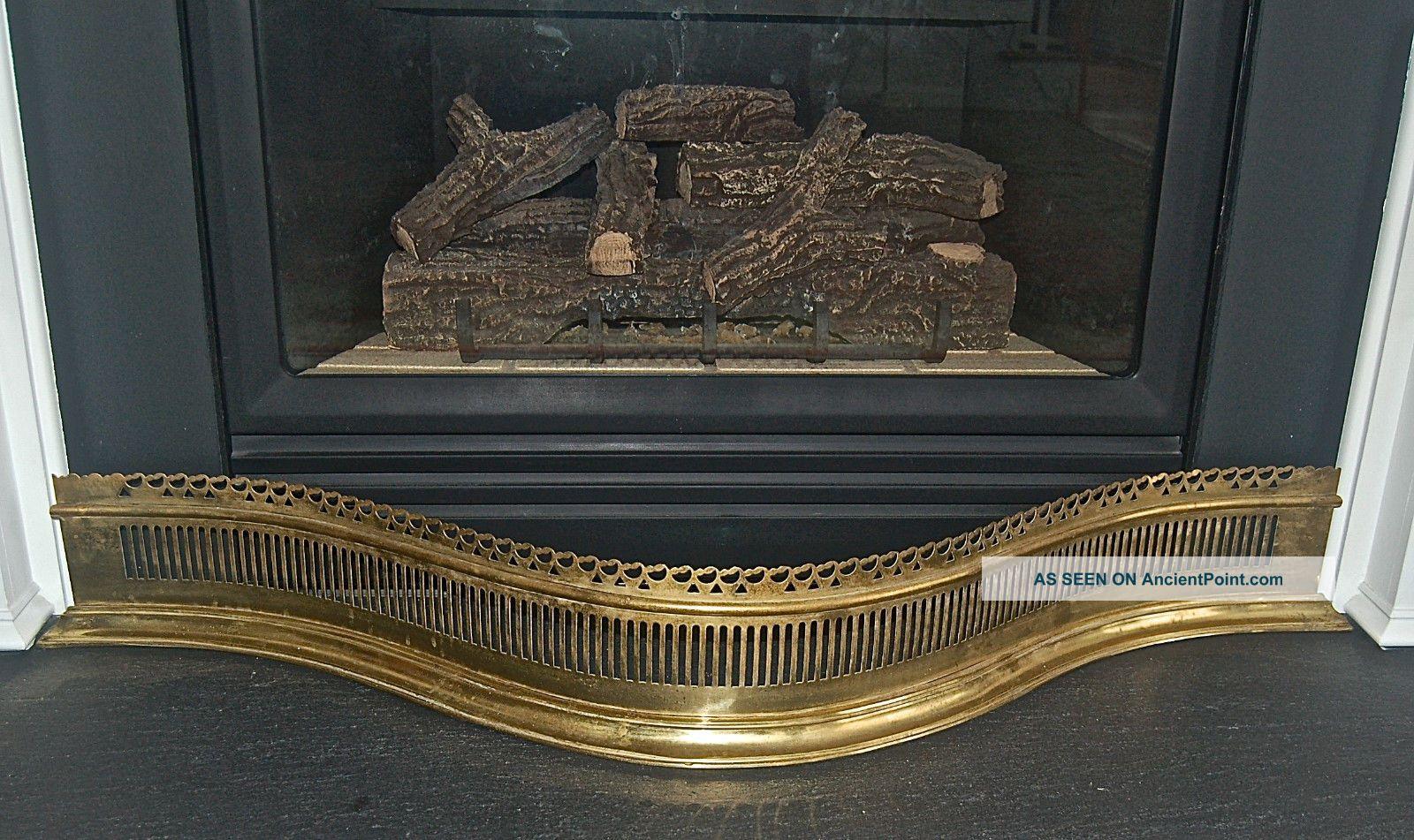 Virginia Metalcrafters Serpentine Pierced Brass Fireplace Fender 102 - 1 Hearth Ware photo