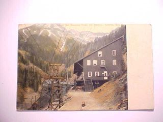1912 Postcard Telluride Colorado Liberty Bell Mine Boarding House & Tramway Vg, photo