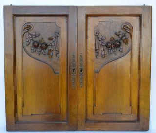 Wooden Architectural Door Panel - French Antique Carved Walnut Doors photo