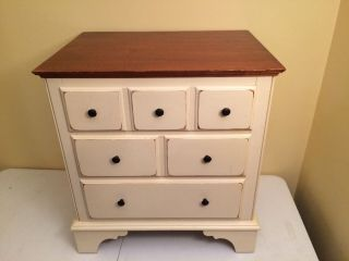 Vintage Ethan Allen Mid Century Modern Solid Wood End Table Nightstand photo