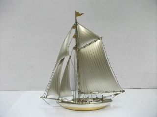 The Sailboat Of Silver970 Of Japan.  102g/ 3.  61oz.  Scrap.  A Japanese Antique. photo