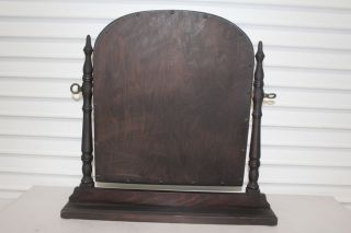 Antique Furniture Company Vanity Table Mirror With Wood Stand & Frame photo