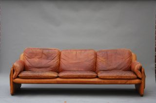 Vintage De Sede Leather Sofa - Ds61 - Knoll Baughman Dunbar Danish Modern Desede photo