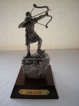 Persian Metal Sculpture Legend Myth Arash Kamangir Persia Hero Arash The Archer photo