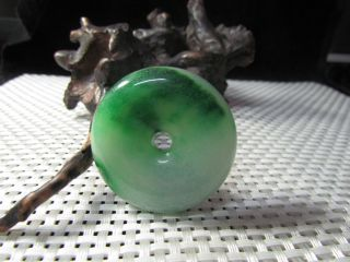 Aaaaa Chinese Natural Jewelry Hand - Carved Emerald Jade Pendant Wishful Ping photo