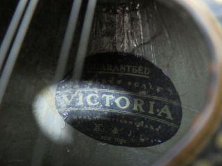 Antique 1880 - 1920 B & J Victoria Bowlback Mandolin With Case photo