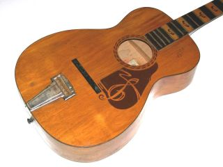 Antique Vintage 1930 ' S Supertone Parlor Guitar Project By Regal,  Stromberg Or Kay photo