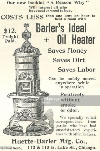 Antique Barlers Ideal Oil Heater photo