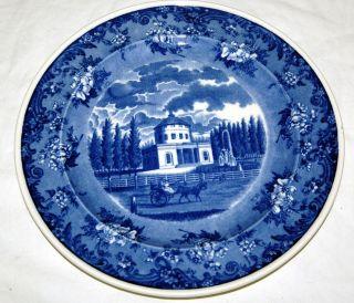Antique Philadelphia Waterworks Porcelain Plate Wright Tyndale Blue 1890 Rare photo