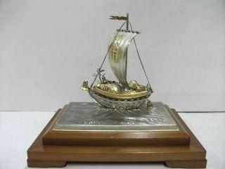 Silver980 The Japanese Treasure Ship.  130g/ 4.  58oz.  Takehiko ' S Work. photo