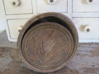 19th Century Primitive Wood Butter Mold Great American Country Find Aafa photo