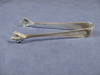 Sterling Silver Claw Style Sugar Tongs By Wm Durgin - 3.  5