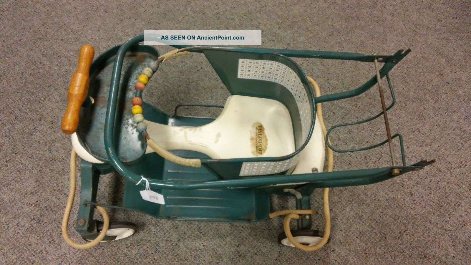 Vintage Taylor Tot Green Convertible Baby Walker,  Stroller.  1940 ' S Baby Carriages & Buggies photo