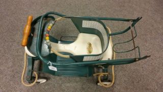 Vintage Taylor Tot Green Convertible Baby Walker,  Stroller.  1940 ' S photo