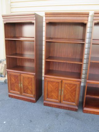 56106 Pair Cherry Bookcase Cabinet Curio S photo