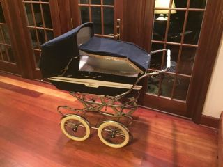 Vintage Italian Peg Perego Pram Baby Carriage & Stroller Combination photo