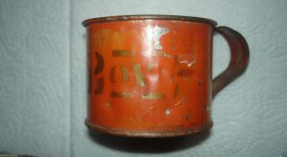 Aafa Antique Tin Childs Drinking Cup Bittersweet Paint Stencil My Boy photo