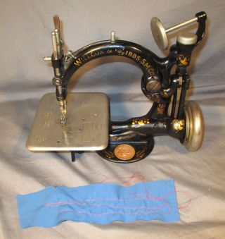 A597413 Serviced Antique Willcox & Gibbs Chain Stitch Sewing Machine Video photo