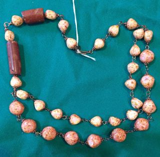 2 Antique African Trade Bead Necklace Designer Restrung For Contemporary Wear photo