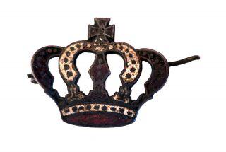 Post Medieval Enamelled Patriotic Brooch Metal Detector Find. photo