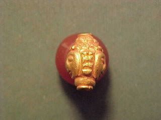 Sassanian Gold Figural Bead Circa 224 - 642 Ad photo