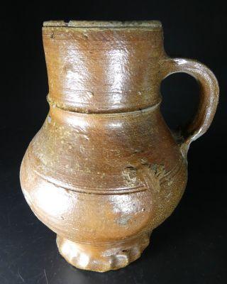 Nearly Complete Raeren Stoneware Vessel 17th Century Archeology Bellarmine photo