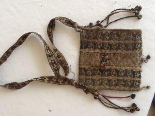 Antique Bolivian Woven Coca Bags photo