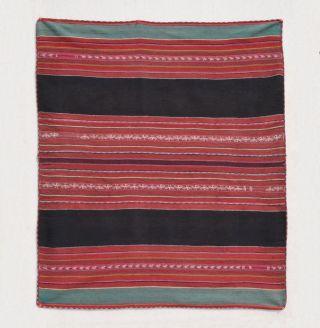 Antique Aymara Indian Awayu Shoulder Textile Handspun Sheep Llama Wool Tm8620 photo