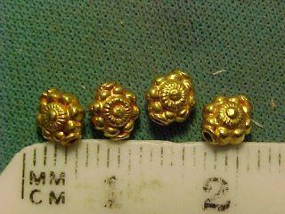 Ornate Sassanian Gold Bead Circa 224 - 642 Ad photo