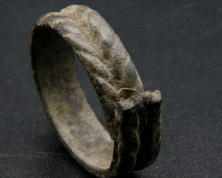 Ancient Viking Period Bronze Serpent Ring,  Norse Zoomorphic Artefact 1000 Ad F, photo