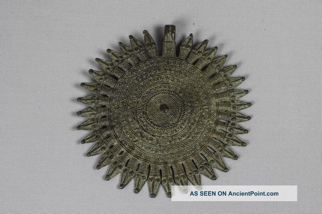 Large Gan Pendant In Bronze (burkina Faso) – African,  Tribal Art Sculptures & Statues photo