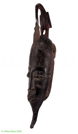 Guro Mask With Bird On Top African Art photo