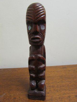 Maori Tekoteko Tiki Hand Carved Vintage Tiki Bar photo