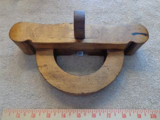 Old Rare Antique Wooden Router Wood Plane Collectible Carpentry Tools photo
