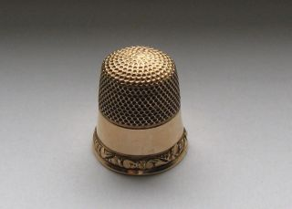 Antique 14 Kt Gold Child ' S Thimble By Stern Bros.  & Co.  Size 6 1908 - 1912 photo