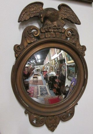 Antique Federal Style Girandole Eagle Bull ' S Eye Mirror Brinkman Estate Sweet photo