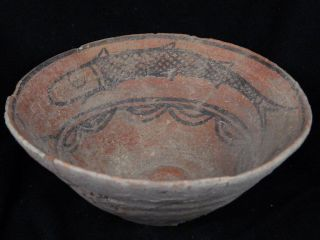 Ancient Large Size Teracotta Painted Pot With Fishes Indus Valley 2500 Bc Pt151 photo